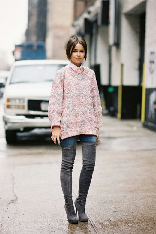 Thigh High Boots Over Jeans - Boot Hto